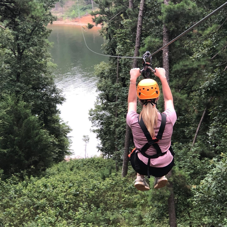 things to do in broken bow- ziplining